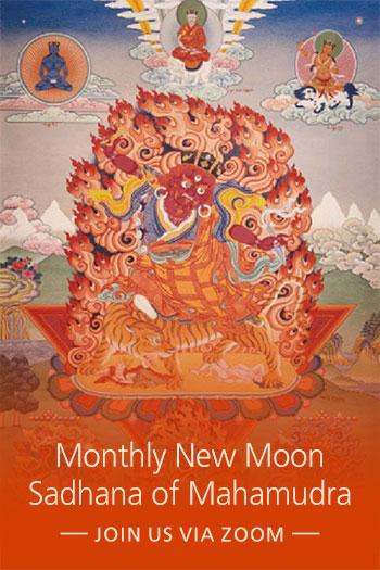 promo image for New Moon Sadhana of Mahamudra (via Zoom)